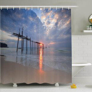 Nautical Sunset Ocean Romance Shower Curtain Set