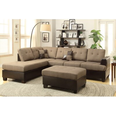 Excellent Michael Sectional With Ottoman Aj Homes Studio Upholstery Tan Spiritservingveterans Wood Chair Design Ideas Spiritservingveteransorg
