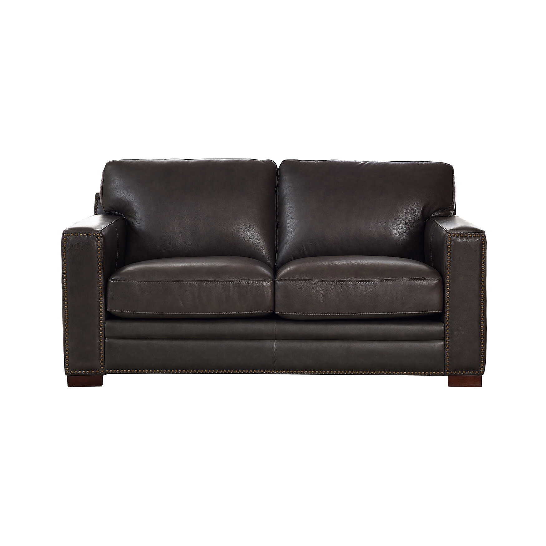 Strange Neil Leather Loveseat Ocoug Best Dining Table And Chair Ideas Images Ocougorg