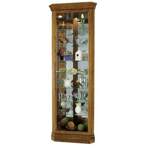 Dominic Lighted Corner Curio Cabinet by Howard Miller®