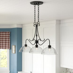 Laurel Foundry Modern Farmhouse Sheila 3-Light Kitchen Island Pendant