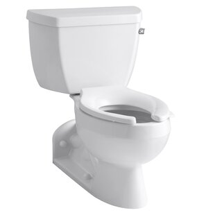 Kohler Barrington Two-Piece Elongated 1.0 GPM Toilet with Pressure Lite Flushing Technology and Right-Hand Trip Lever