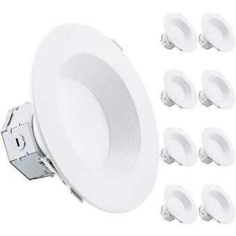 Bulbrite Industries 6 Ultra Slim Remodel Ic Led Canless Recessed Lighting Kit Wayfair