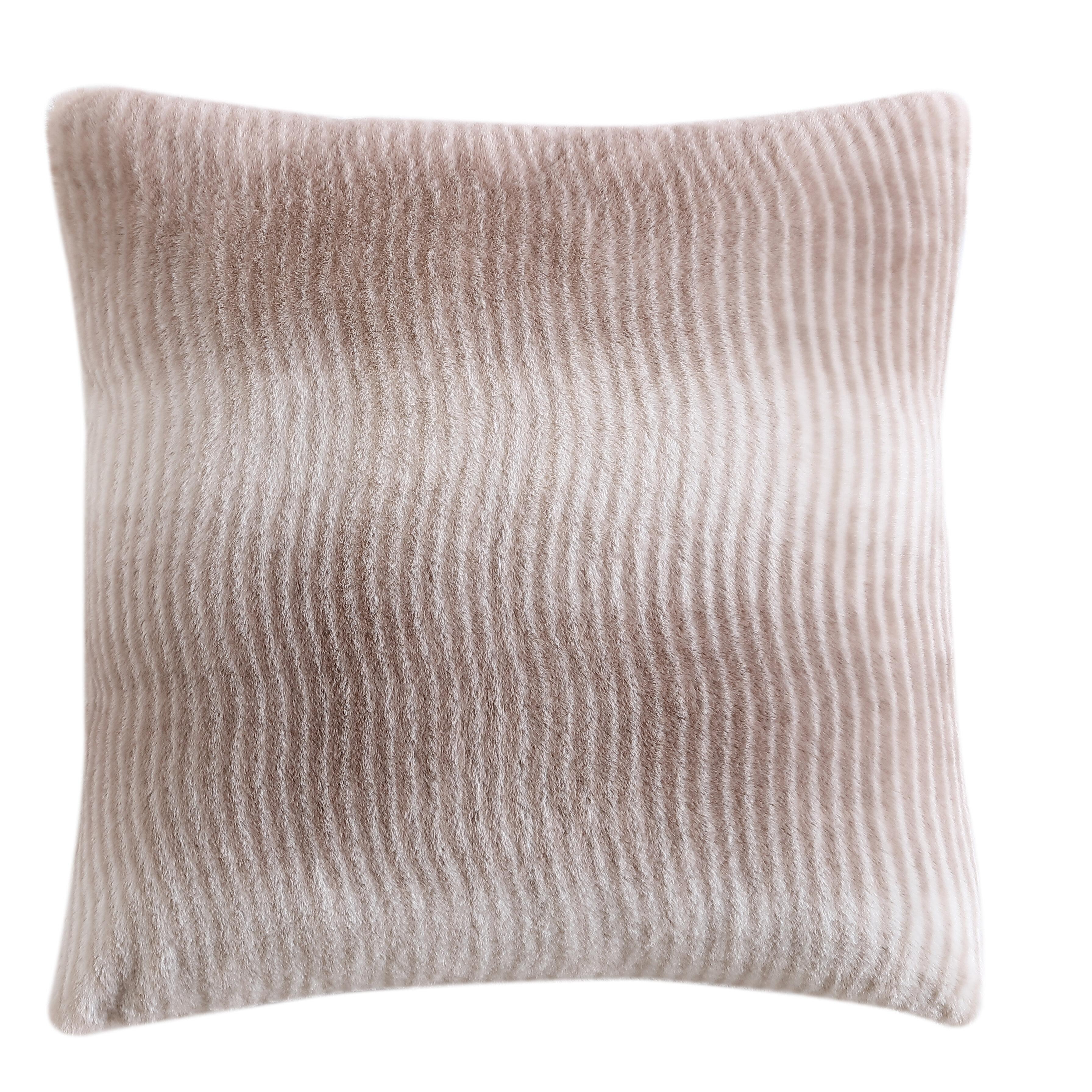 Ebern Designs Saine Striped 18 Throw Pillow Cover Wayfair