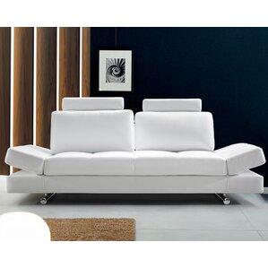 Coalpit Heath Leather Sofa by Orren Ellis