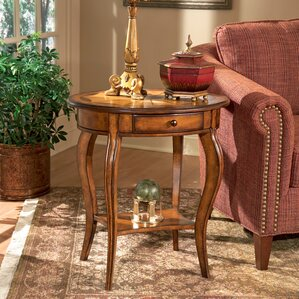 Copley Oval End Table by Astoria Grand
