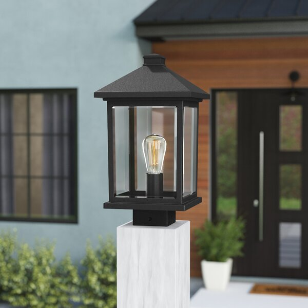 Sol 72 Outdoor Lovette Black 1 Light 14 38 H Hardwired Lantern Head Reviews Wayfair
