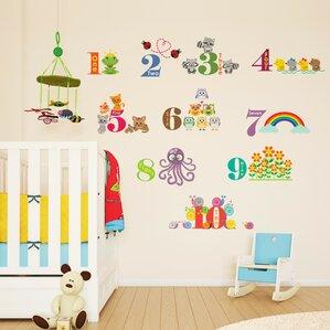 Children Home Animals Numbering Wall Sticker Part 68
