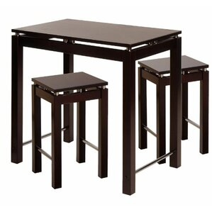 Linea 3 Piece Counter Height Dining Set by Luxury Home