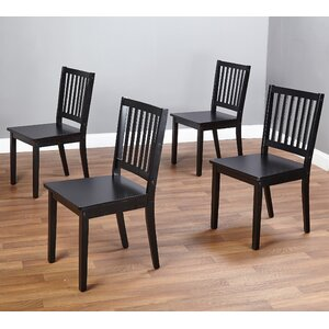 Jeane Solid Wood Dining Chair (Set of 4)