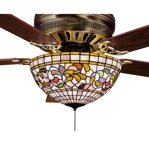 Weissman 3-Light Bowl Ceiling Fan Light Kit