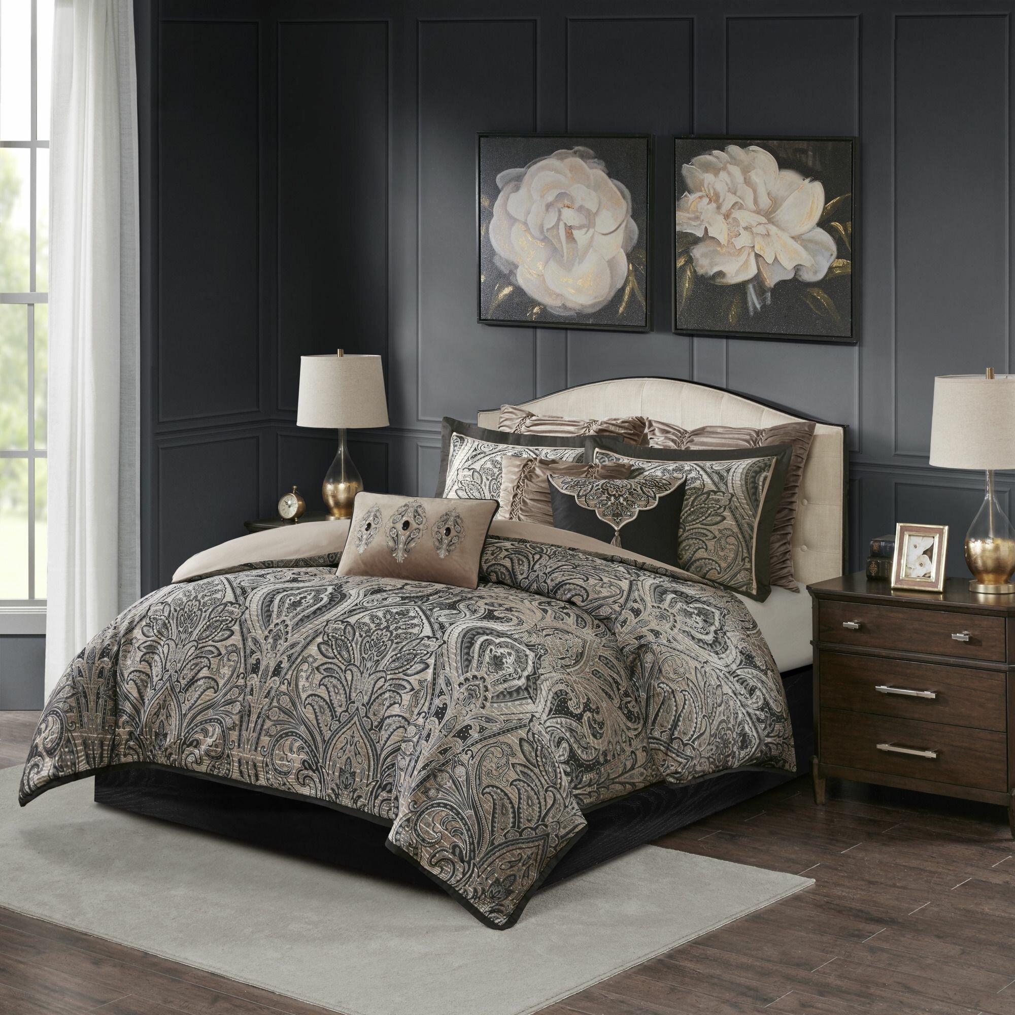 Madison Park Signature Grandover Damask 8 Piece Comforter Set Reviews Wayfair
