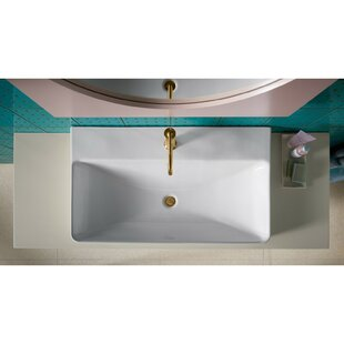 Best Vox Vitreous China Rectangular Vessel Bathroom Sink with Overflow By Kohler