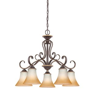 Fleur De Lis Living Alluvial 5-Light Shaded Chandelier