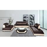 Mccree 3 Piece Leather Living Room Set by Orren Ellis