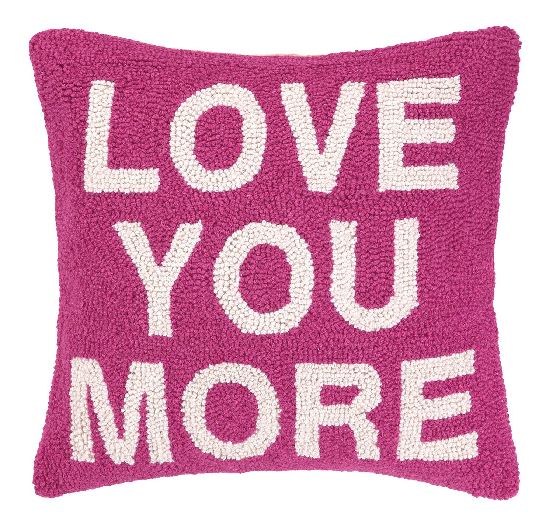 Peking Handicraft Love You More Square Hook Wool Throw Pillow Reviews Wayfair