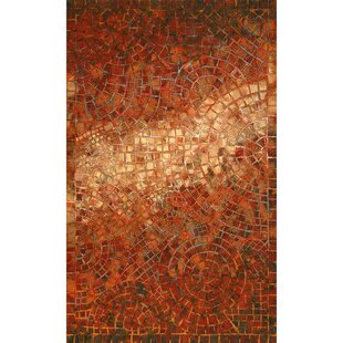 Alline Arch Tile Red Indoor/Outdoor Area Rug