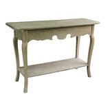 Antique Wood Console Table by Jeco Inc.