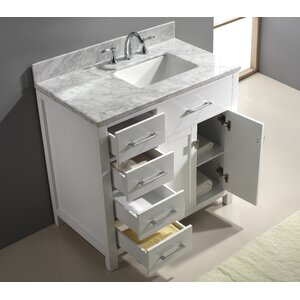 Savitsky 37″ Single Bathroom Vanity Set with Mirror