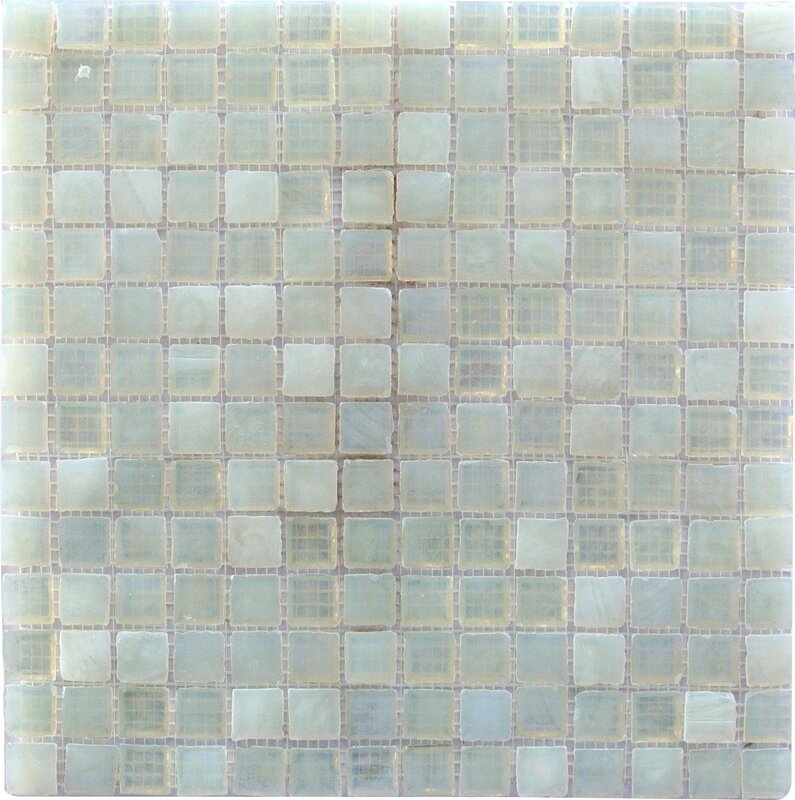 LEED Amber 0 75  x 0 75  Glass Mosaic Tile in Pearl White. Abolos LEED Amber 0 75  x 0 75  Glass Mosaic Tile in Pearl White