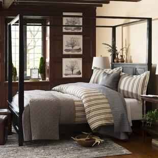 Unique canopy bed Unique Metal Marblewood Canopy Bed Wayfair Canopy Beds Youll Love Wayfair