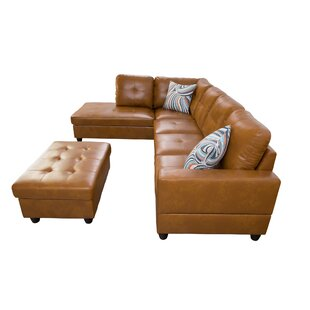 Provo 104 Sectional with Ottoman by Ebern Designs