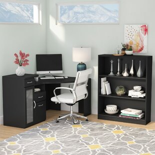 EmeraldCove 2 Piece L-Shape Desk Office Suite