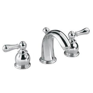 American Standard Hampton Widespread Bathroom Faucet with Double Lever Metal Handles