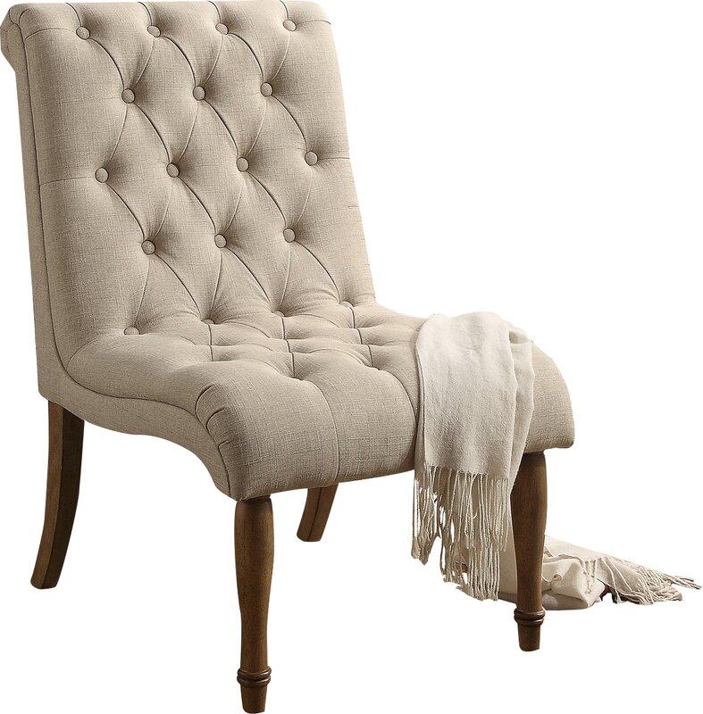 Ensley Tufted Upholstered Slipper Chair