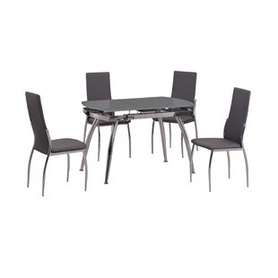 Chamlee 5 Piece Dining Set by Orren Ellis Best #1