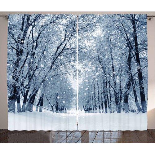 Winter Pencil Pleat Blackout Thermal Curtains East Urban Home Dimensions per curtain: 260cm H x 140cm W