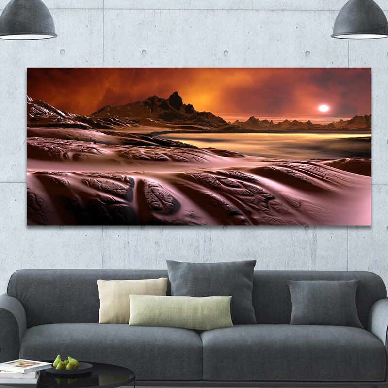 3D Rendered Alien Planet' Photographic Print on Wrapped Canvas