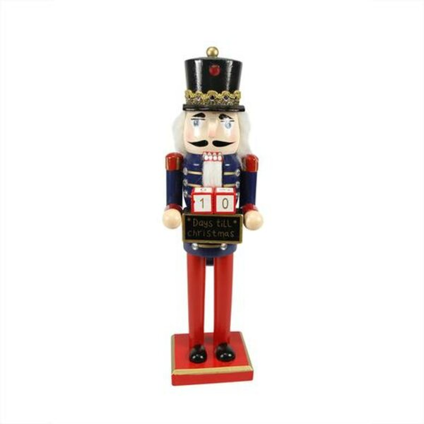 the holiday aisle decorative wooden nutcracker with christmas countdown sign wayfair - Christmas Countdown Sign