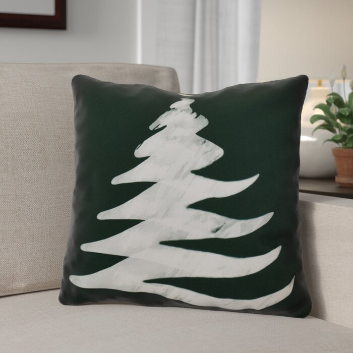 The Holiday Aisle Decorative Christmas Tree Print Outdoor Throw Pillow | Wayfair