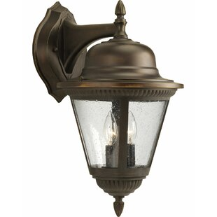 Reviews Triplehorn 2-Light Wall Clear Lantern By Alcott Hill