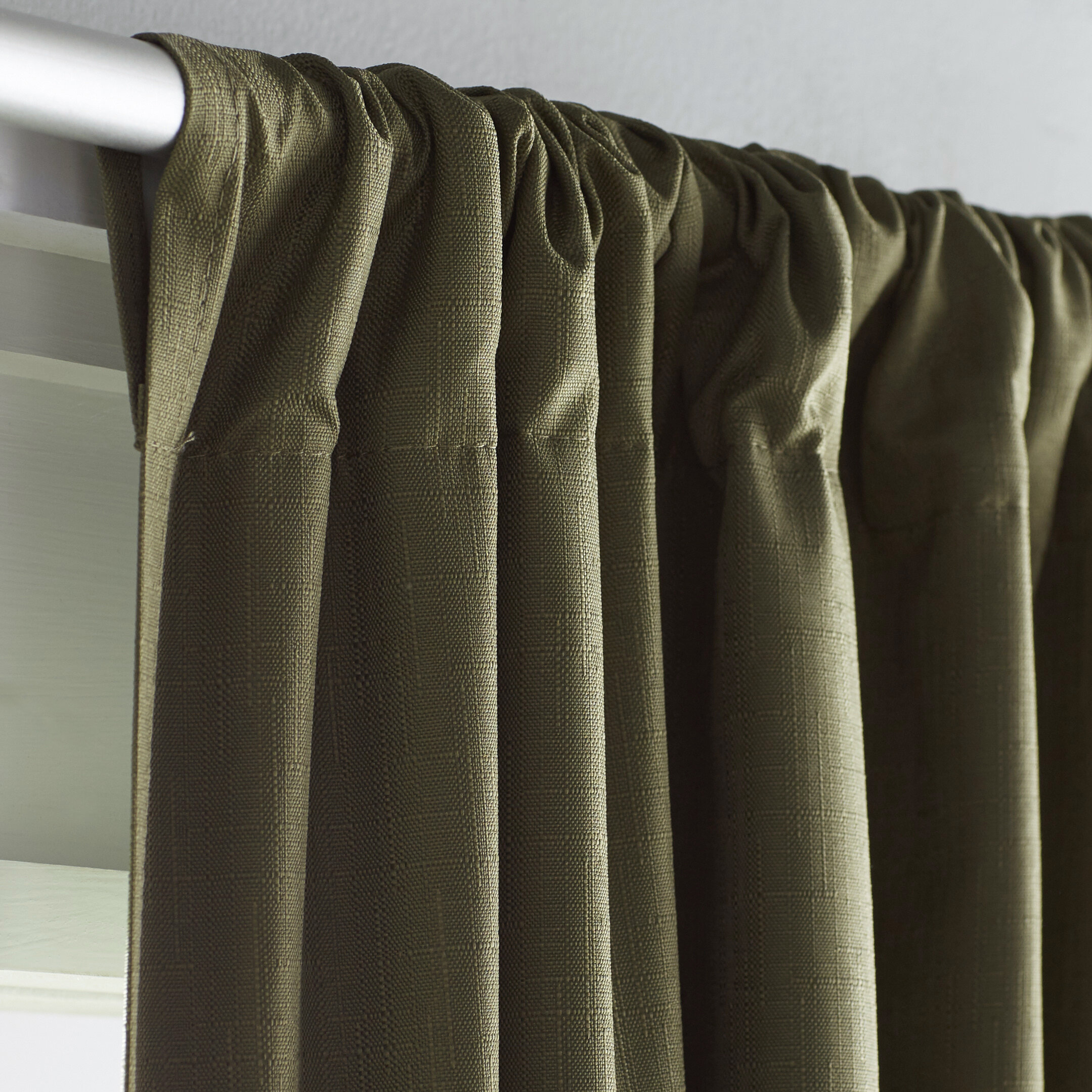 Charlton Home Columbia Solid Blackout Thermal Rod Pocket Single Curtain
