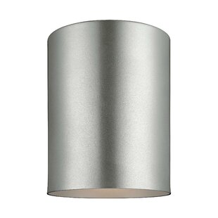 Orren Ellis Kieu 1-Light Outdoor Flush Mount
