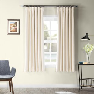 Albert Velvet Solid Blackout Thermal Rod Pocket Single Curtain Panel by Laurel Foundry Modern Farmhouse