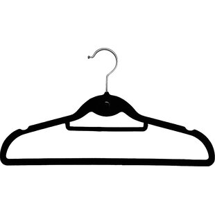 Review Streamlined Slimline Velvet Non-Slip Hanger with Notches and Tie Bar (Set of 50) By Rebrilliant