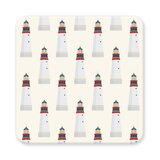 Lighthouse Reversible Absorbent Coasters Cardboard Disposable Straws & Drink Accessories (Set of 10)