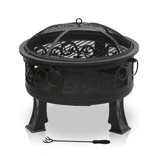 Volney Outdoor Round Steel Wood Burning Fire Pit By Freeport Park