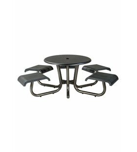 Tropitone Site Furnishings Aluminum Picnic Table