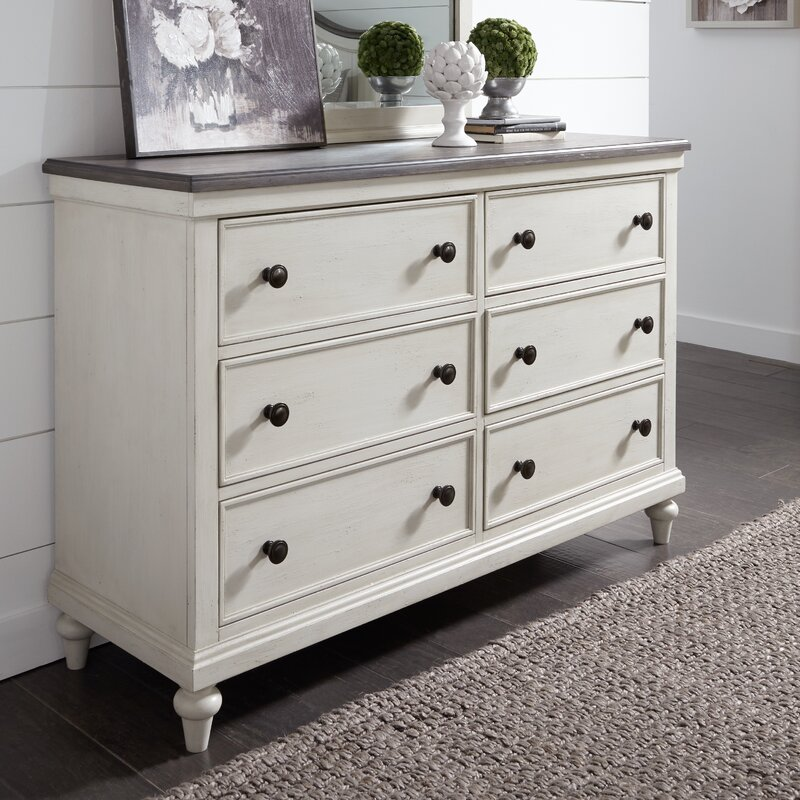 Labelle 6 Drawer Double Dresser