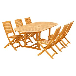 Bostwick 7-Piece Dining Set By Rosecliff Heights