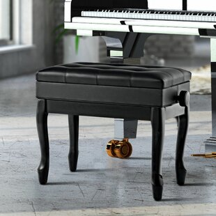 Find Cirebon Height Adjustable Upholstered Storage Piano Bench By Winston Porter