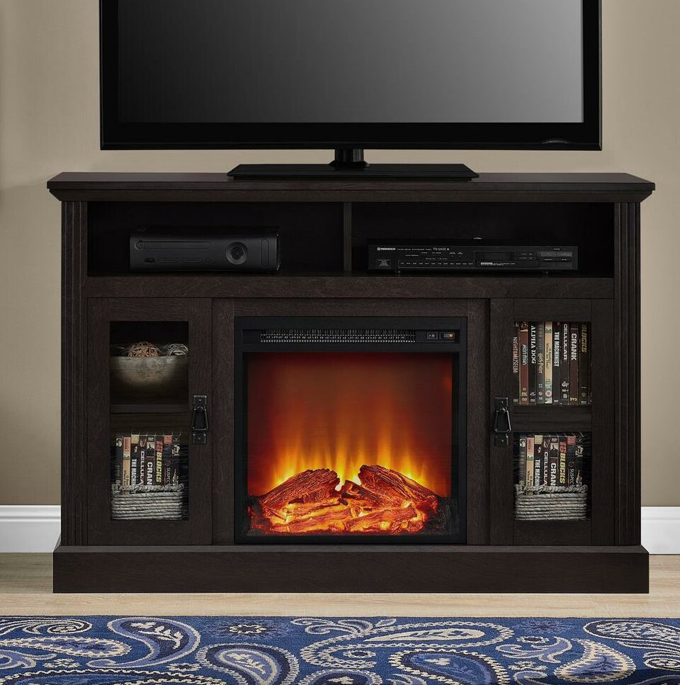 Darby Home Co Rosier Tv Stand For Tvs Up To 50 With Fireplace