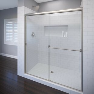Online Reviews Classic 56 x 70 Frameless Bypass Sliding Shower Door ByBasco