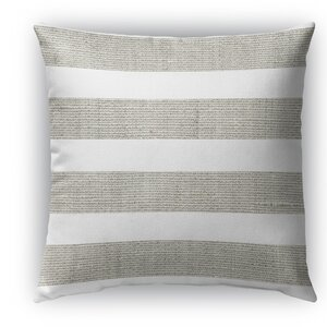 Melton Burlap Indoor/Outdoor Throw Pillow