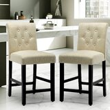 Saguaro Upholstered 22.8 Short Stool (Set of 2) by Charlton Home®