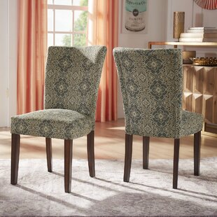 Sture Damask Upholstered Dining Chair (Se..